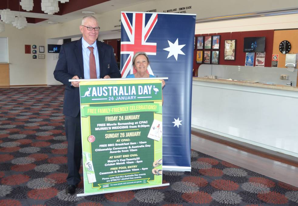 EVENT: Cessnock mayor Bob Pynsent and Cessnock Performing Arts Centre manager Vicki Sienczuk.
