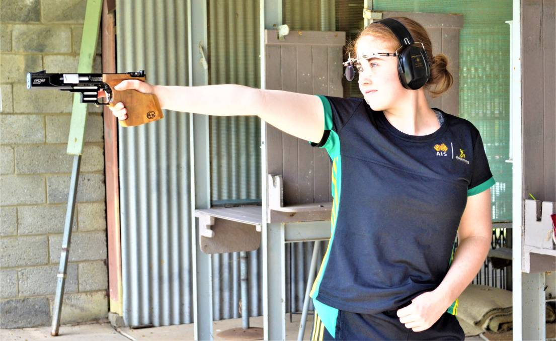 TALENT: Cessnock Pistol Club member Olivia Erickson has been identified a rising star of the sport with selection in the national pathways squad.