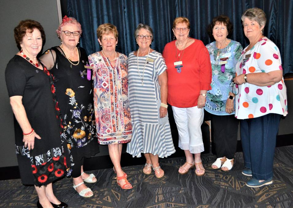 TOGETHER: Cessnock VIEW Club members Brigitte Kennedy, Heide Huckfeldt, Kath Woodbury, Ruth Gorton, Kay Elder, Jan Drayton and Betty Cordowiner at the club's Christmas luncheon on Thursday. Picture: Krystal Sellars