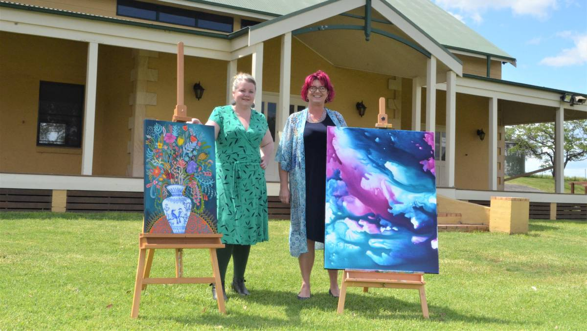 SHOWCASE: Hunter Valley Art Fair organisers Suellyn Connolly and Kim Lundy are looking forward to the event at Pokolbin Hall this weekend. Picture: Krystal Sellars