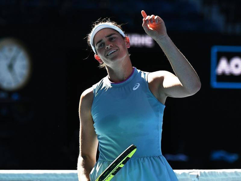 American Jennifer Brady has reached her maiden grand slam final in Melbourne.