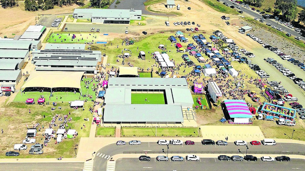 PLENTY TO SEE: An aerial shot of a previous St. Philip's Spring Fair. This year's is set to be the biggest one to date.